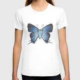 Butterfly - The Great Purple Hairstreak - ATLIDES HALESUS by Magda Opoka T-shirt