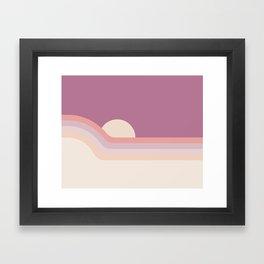 Lilac Rainbow Dipper Framed Art Print