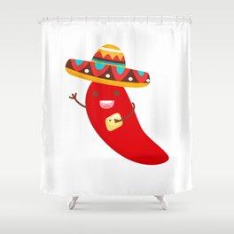 Cinco De Mayo Pepper Design Shower Curtain