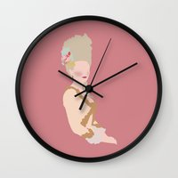 marie antoinette Wall Clocks featuring marie antoinette by Live It Up