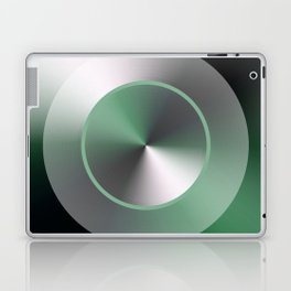 Serene Simple Hub Cap in Green Laptop & iPad Skin