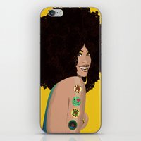 erykah badu iPhone & iPod Skins featuring Erykah Badu Vector by The Augustus Lioness