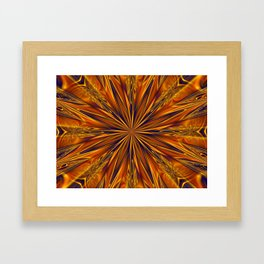 Golden Star Burst Framed Art Print