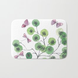 a touch of summer fragrance - white background Bath Mat