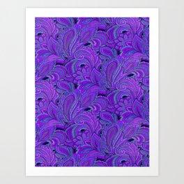 paisley paisley purple Art Print