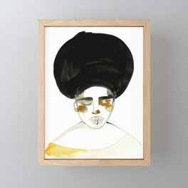Serenity with Fluffy Afro Framed Mini Art Print