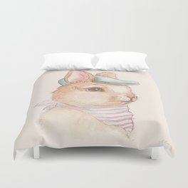 Bunny With Hat Duvet Cover