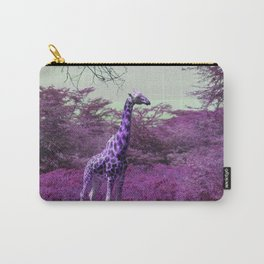 Wild Giraffe in Pink Carry-All Pouch