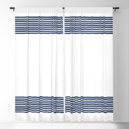 Band in Navy Blackout Curtain