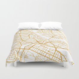 BASEL SWITZERLAND CITY STREET MAP ART Duvet Cover