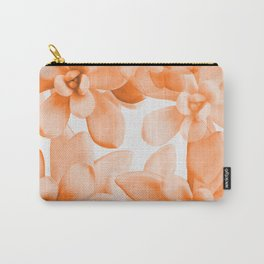 Succulents in Living Coral Color White Background #decor #society6 #buyart Carry-All Pouch