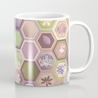 polygon Mugs featuring Polygon pattern by /CAM