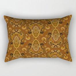 Golden Glow Paisely Rectangular Pillow