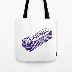 Caramel wafer pen drawing (blue) Tote Bag