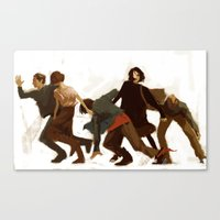 the breakfast club Canvas Prints featuring Breakfast Club by MMCoconut