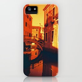 Venice in Redscale Film iPhone Case