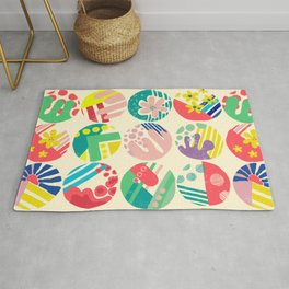 Abstract circle fun pattern Rug