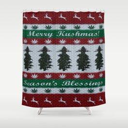 Merry Kushmas! Shower Curtain