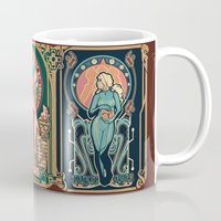 mucha Mugs featuring Nintendo Nouveau (art print) by Megan Lara