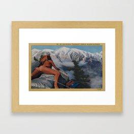 Old Baldy Framed Art Print