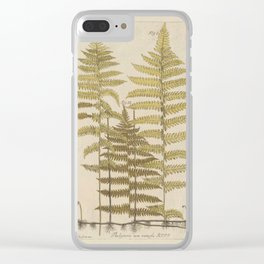 Vintage Fern Botanical Clear iPhone Case