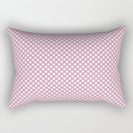 Orchid Smoke and White Polka Dots Rectangular Pillow