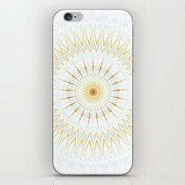 Gold White And Blue Mandala iPhone Skin