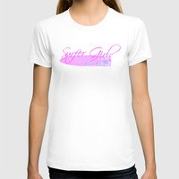 surfboard T-shirts featuring Surfer Girls with Surfboard by Fitbys