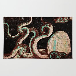 Old Time Octopus Mosaic Rug