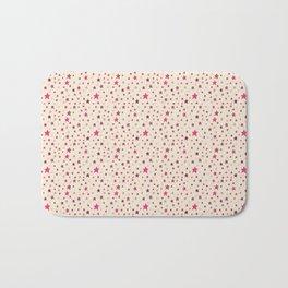 Pink Stars on Cream {Paper Moon Collection} Bath Mat