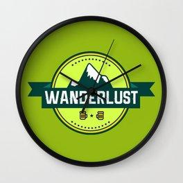 Wanderlust Mounatin Print Wall Clock