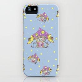 Whimsical Mushroom House iPhone Case