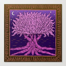 ombo pink tree of life Canvas Print