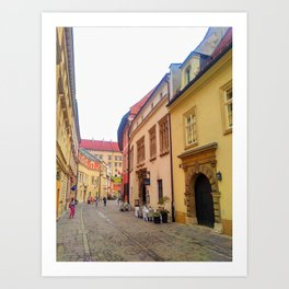 Kanonicza Street is one of the most beautiful streets in Krakow Art Print