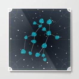 Gemini + June Alexandrite Metal Print