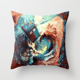 Tardis doctor who at starry night Dark Vortex iPhone 4 4s 5 5c 6, pillow case, mugs and tshirt Throw Pillow