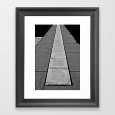 Timeline Framed Art Print