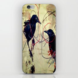 The gaze for the crow's crown iPhone Skin