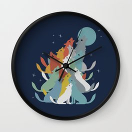 A Pack of Wolfs Wall Clock