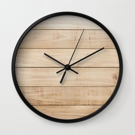 Wood plank texture 2 Wall Clock