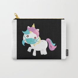 Unicorn Face Mask Carry-All Pouch