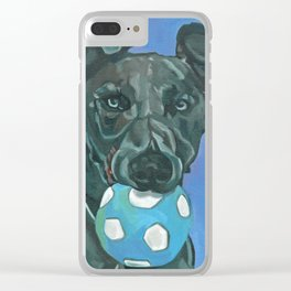 Fly the Whippet Dog Portrait Clear iPhone Case