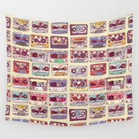 records Wall Tapestries featuring Nobody's records by kubizm