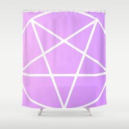 Pastel Pentagram (white magick remix) Shower Curtain