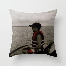 Aidan White Throw Pillow