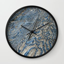 Plywood Ripples Wall Clock