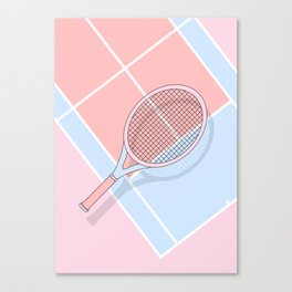 Hold my tennis racket Canvas Print