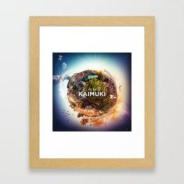 Planet Kaimuki Framed Art Print