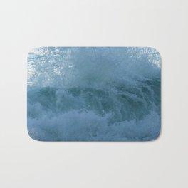 Crashing Waves Up Close by Aloha Kea Photography Bath Mat