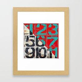 numbers design 3 Framed Art Print